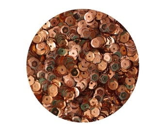 5mm Cup Sequins Copper Metallic