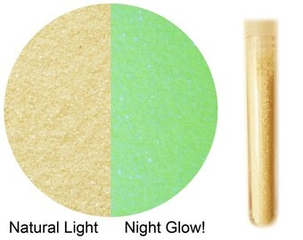 GLITTER Glow in the dark ~ Phosphorescent ~ Nightglow. Premium Quality. Vial. Halloween Party Rave Made in USA