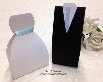 Bride And Groom Favor Boxes Bride Favor Boxes White