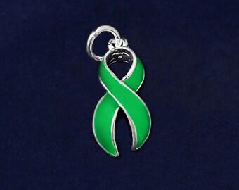 Large Green Ribbon Charm (RE-CHARM-01-13)