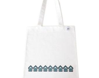 Beach Huts Canvas Tote Bag