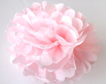 PALE PINK tissue paper pom pom - Large/medium/small size - handmade - lots of colours to choose from