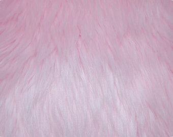 Baby Pink Luxury Shag Faux Fur Fabric