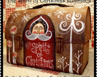 The Spirit of Christmas Lunchbox - Painted by Martha Smalley, Painting With Friends E Pattern
