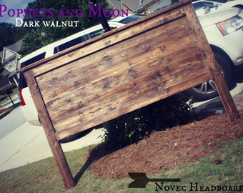 Dark walnut king headboard deposit