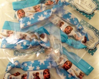 20 x 3 Snow Princess Party Packs Elastic Hair Ties Pony tail holder Loot Bag Favors
