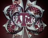 Texas A&M Stacked Boutique Hair Bow