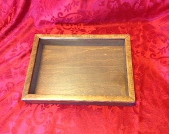 Shadow Box interior dimensions 13 x 9 x 2 stained in antique cherry