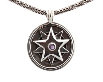 Kinetic #25/4 - Pendant - Sterling Silver - Amethyst