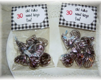 30th Birthday Printable Bag topper,party,favor (DIY)