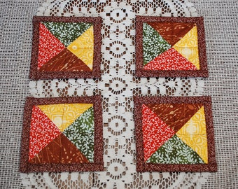 READY TO SHIP! Reversible Quilted Tea Time Coasters