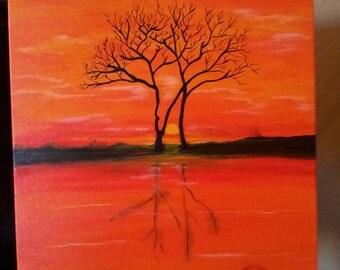 A Grim Reflection-Original Acrylic Painting