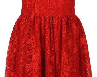 Red Lace skater Dress by ROSAvelt