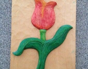 Relief Carving - Tulip