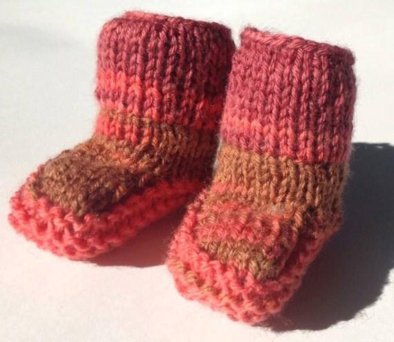 Free Babies Knitting Patterns : Mukluk Pattern Knit images