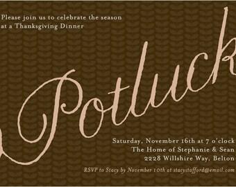 Potluck invitation | Etsy
