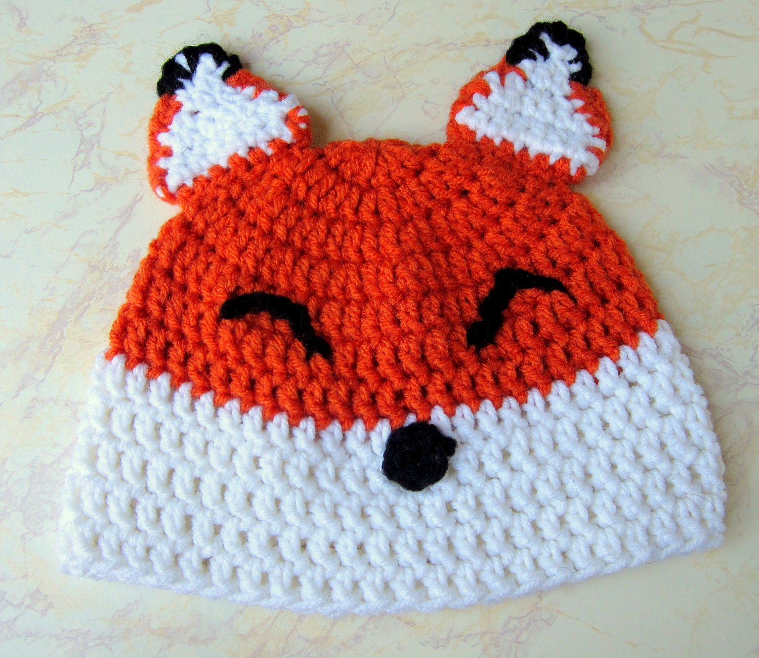 Crochet Fox Hat : Fox Hat Crochet Fox Hat Kawaii Fox Hat by TiedinKnotsCrochet