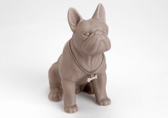 statue von franz sische bulldogge beige von. Black Bedroom Furniture Sets. Home Design Ideas