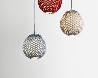 Modern pendant light, Custom lighting, Knitted pendant light, Modern light, Pendant light