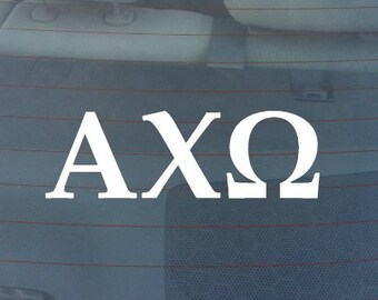 "Alpha Chi Omega Sorority Sticker Window Laptop Car Decal Vinyl Ipad Iphone 3"" 6"" 8"""