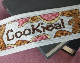 Pattern - Cross Stitch Bookmark - Cookies (Downloadable PDF)