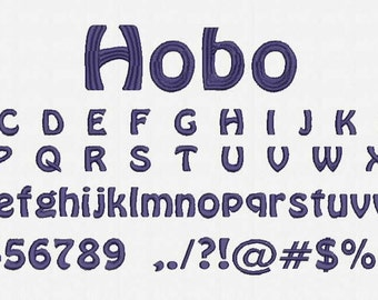 Hobo Font Embroidery Design Now Come with .BX Ready Font!