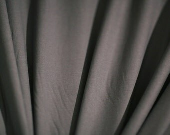 "VISCOSE SPANDEX  Fabric,Grey Knit,Jersey Fabric,Stretchy Fabric, Grey Viscose Spandex Fabric, Dress Fabric,Grey Fabric,Annabelle 58""by YARD"