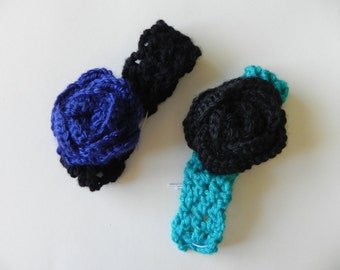 Crochet Baby Rose Headband