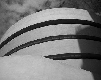 The Guggenheim Museum (New York, USA) - Fine Art Print - Black and White Digital Photography
