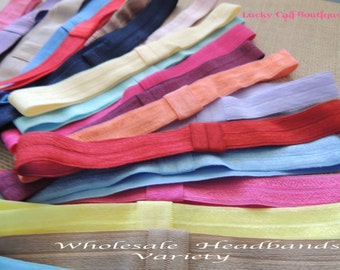 40 Wholesale Interchangeable Headbands for baby, kids and adults (FOE) Variety Only