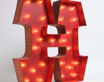 Awesome Whimsical lighted carousel letter H.  includes lights, a teeny assembly process.  safe for outdoor or indoor use!