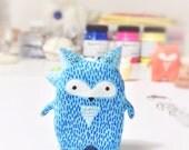Little Fox - Blue Edition - Fox Totem - Handmade Polymer Clay