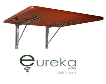 Table, Fold Down Wall-Mounted Furniture, Space Saving Solution, Wood, Wooden
