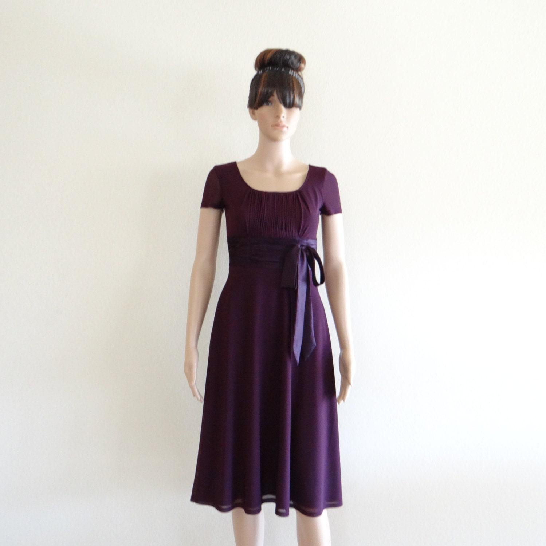 Dress With Sleeves Purple Bridesmaid Dress