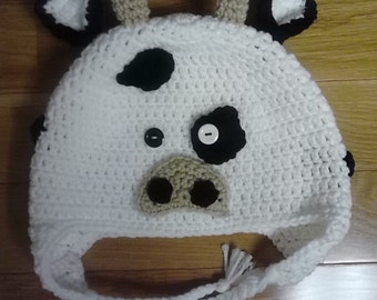 Crochet Cow Hat / Animal Hat