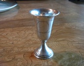 Sterling Silver Kiddush Cup with zipper design engraving.