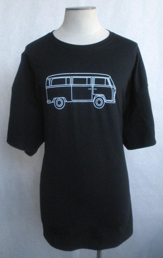 volkswagen vintage bus logo t shirt classic vw type 2 kombi transporter microbus. Black Bedroom Furniture Sets. Home Design Ideas