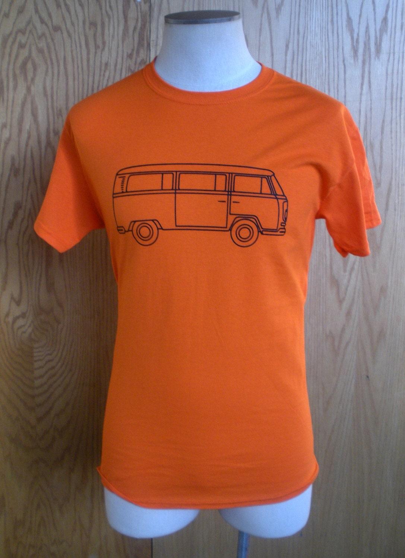 volkswagen vintage bus logo t shirt classic vw type 2 kombi. Black Bedroom Furniture Sets. Home Design Ideas