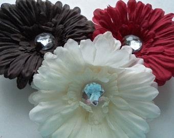 """Easter Hair Flower, 4"""" girls hair flower, Hair Accessories, Color Choice, hair clip, Photo Prop, Hair Accessory, girls hair flower, Easter"""