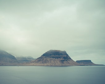"Northern fjord photography, Iceland landscape, Nordic art print, Mountains, Scandinavia, Scandinavian photography, 12"" x 8"", 30 cm x 20 cm"
