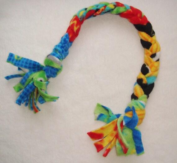 Dog Tug Toy Fleece Tug Toy Tug Toy For Dogs Handmade Tug