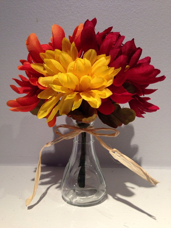 Items similar to fall floral decor wedding centerpiece