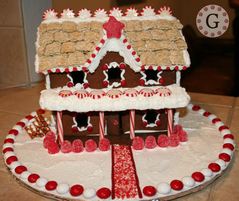 2 Story Inn Gingerbread House Template