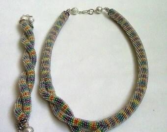 "Necklace + bracelet "" RAINBOW"""