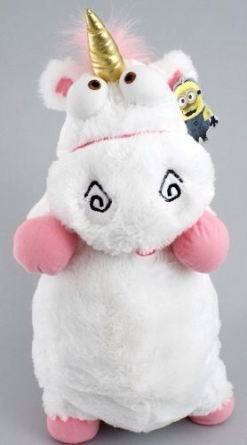 "Despicable me fluffy unicorn plush pillow toy 25"" w tag"