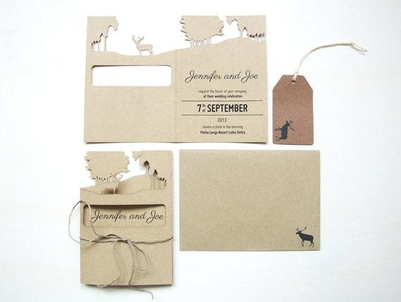 Deer Wedding Invitations: Oh Deer Wedding Invitation Deposit By AsymmetreeWedding On