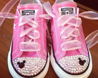 Low Top Bling Converse Minnie Mouse