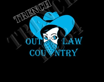 Trench Clothing Outlaw Country Mens Tee Shirt