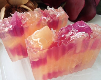 Strawberry Champagne Soap - Handcrafted glycerin soap