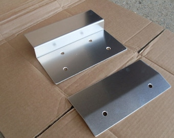 "Aluminum Motorcycle Ramp End Kit 10"" Top & Bottom Includes Hardware"